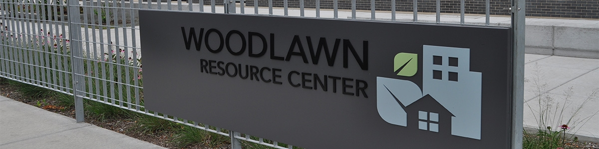 Woodlawn Resource Center sign