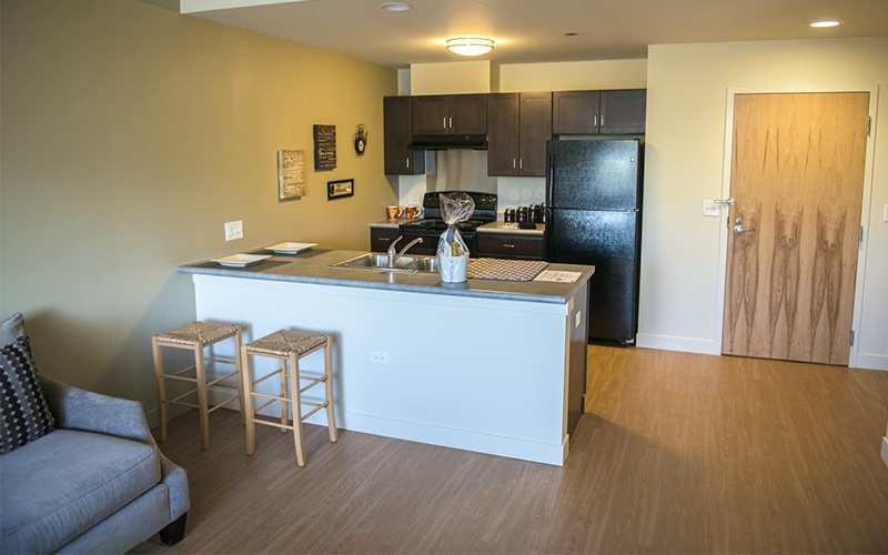 The Burnham unit kitchen