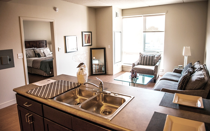 The Burnham unit livingroom
