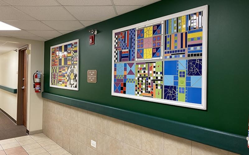 Hallway art mosaic